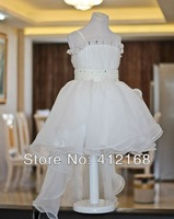 Beautiful  Trailing flower girl dress ball gown kids party pettiskirt baby princess costume Prom Children's Christening Gown