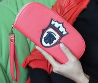 2013 new fashion solid color wallet midsweet zipper women's long design wallet  ladies' coin purse free shipping