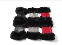 Sheepskin gloves winter otter rabbit hair lovely silk short winter female neri fingerless gloves