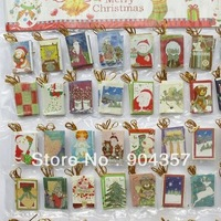 Christmas Cards Greeting Card Small Elevators Santa Claus Christmas Trees Assortment Glitter Decorative Sympathy All Occasion