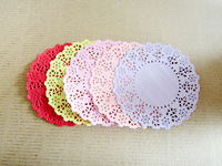 """SS01603 5 Mixed Colors 4.5"""" Hollowed Lace Paper Doilies Crafts for DIY Scrapbooking Paper/Card Making/Wedding Decoration"""