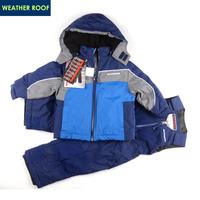 Child wadded jacket cotton-padded jacket ski suit for boy