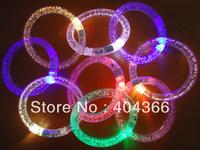 DHL free shipping 100pcs/lot LED bracelet Light up Bracelet flashing bracelet for christmas