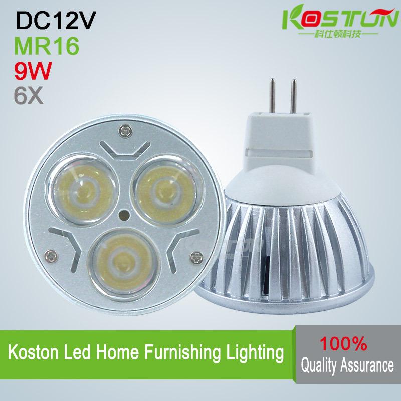 6pcs/lot led bulb MR16 9w 3x3W AC/DC 12V Dimmable led Light led lamp spotlight downlight lamps(China (Mainland))