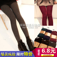 Wz1 2013 autumn and winter thickening brushed thermal pantyhose legging stockings legging pantyhose