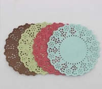 SS01606 4 Christmas Colors Lace Flower Bakery Paper Crafts for DIY Scrapbooking/Card Making/Wedding Decoration/Cake