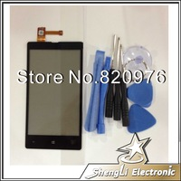 10pcs/Lot Wholesale Original Lcd Top Touch Screen Digitizer Replacement Glass For Nokia Lumia 820 +Open Tools+Free Shipping