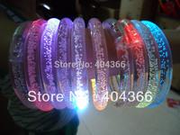 DHL free shipping 600pcs/lot color changing LED bracelet Light up Bracelet flashing acrylic bracelet for christmas
