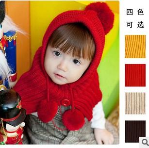 2013 fashion lovely children even shawl hat scarf shawl cap hat wholesale Red/Orange/Khaki/Brow keep warm 5pcs/lot mix colors(China (Mainland))