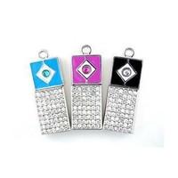 Tonpha real  2gb 4gb 8gb 16gb 32gb Square Type Crystal  Jewelry  USB2.0 Pendrive  Free Shipping