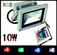 Free Ship , 10W 85V - 265V RGB Waterproof Color Changing LED Spot light Floodlight + Remote Controller
