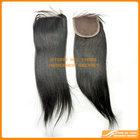 "Cheap Peruvian Straight Closure 4""x4"" Closures Virgin Hair free style bleaced knots  queen hair products Free shipping"