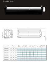 B40090-B40420DC cross flow fan/crossflowfan/draught fan/ventilation fan