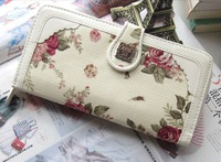 Free shipping classic roses Wallet Anna Canvas Wallet Women's Wallets wholesale
