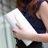Women's handbag 2013 crocodile pattern chain of packet clutch day clutch women's one shoulder cross-body star style