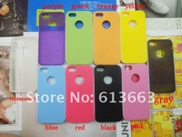 Wholesale Bark pattern design TPU+PC Shell Cover Back Skin case For iphone 5 5G