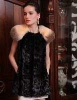 2013 New mink fur vest vest gorgeous genuine raccoon fur shrug Slim new special