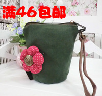 Key wallet patch three-color cosmetic bag canvas mini mobile phone bag coin purse  new 2013