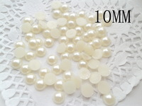 3500pcs 10mm Flatback fashion beads Pearl Cabochon FLAT BACK Mini half pearl ABS BEADS wholesale
