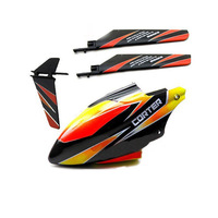 V911-02 Main Rotor Blades + V911-06 Tail Blade Canopy Vertical Tail Parts For 4ch WLtoys V911 V911-1 V911-2 RC Helicopter