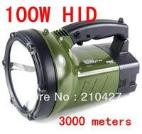 FREE SHIPPING!High quality, New arrival , 100w handheld spotlight,100w hid flashlight torch for hunting camping
