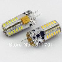 Silica gel 3.6W 360 degree G4 led corn bulb DC AC 12V 260LM non-polar 48 leds 3014 chip 10pcs/lot free shipping