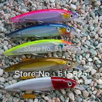 5pcs/lot Lure of fishing  minnow  fishing lure mix color hard lure