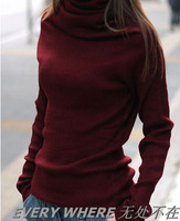Women's mercerizing wool sweater basic sweater