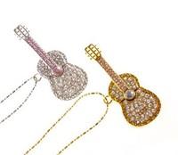 Tonpha real  2gb 4gb 8gb 16gb 32gb Crystal Jewelry Violin USB Flash Drive  Free Shipping