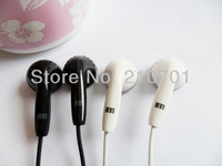 New 3.5mm In-ear Stereo Headphone Earphone with Mic For MP3 Iphone With 2 Earbuds in retailed box free shipping Dropping