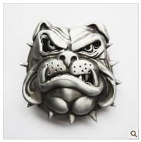 3D Vivid Bulldog Antique Wertern Punk Zinc Alloy Belt Buckle Free Shipping LALAS-BK011