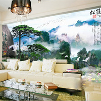 FREE SHIPPING Mural attains bedroom wall wallpaper modern chinese style wallpaper