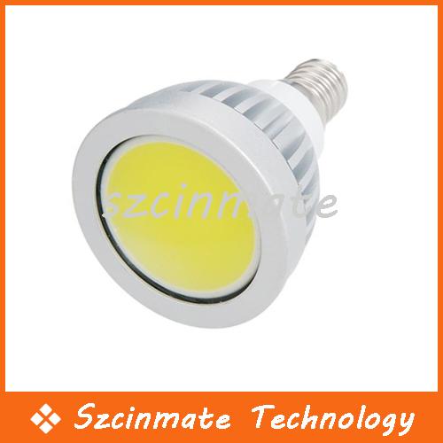 5W COB E14 Led Spot Light Bulb 500 LM Cool/Warm White Led Downlight Lamp 110-240V 100pcs Wholesale(China (Mainland))