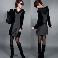 2013 women's basic one-piece dress autumn and winter loose plus size winter one-piece dress elegant mm slim hip skirt