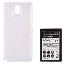 6800mAh Replacement Mobile Phone Battery Cover Back Door for Samsung Galaxy Note 3 Note III N9000 White