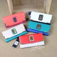Kk hot-selling purse long design wallet women's fashion color block