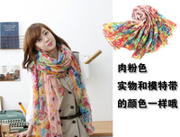 Hot new Yiwu factory direct pastoral floral silk Bali yarn scarves long wholesale 10 package free shipping