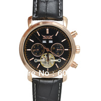 100% Original Wholesale Luxury Brand Jaragar Automatic Mechanical Watch For Men Jaragar Tourbillon Watch With Leather Strap