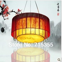 Classical chinese style red wiredrawing pendant light antique sheepskin lamp elegant lighting