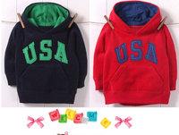 Winter edition, Children's hooded cotton fleece clothing, children's warm (thick) hoody, sweater