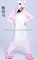 pink hippo included shoes fleece Kigurumi dropship free shipping