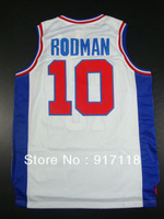 Free Shipping,#10 Dennis Rodman Rev 30 Top quality Basketball jersey,Embroidery logos,Size 44-56
