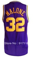 Free Shipping,#32 Karl Malone Rev 30 Top quality Basketball jersey,Embroidery logos,Size 44-56