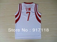 Free Shipping,#7 Jeremy Lin Rev 30 Top quality New Material Basketball jersey,Embroidery logos,Size 44-56