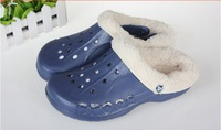 Free shipping 2013 winter men garden tunnel models dual slip warm cotton slippers cotton slippers can be removed