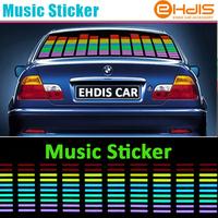 LED Sound Music Activated EL Car Stickers Equalizer Glow Flash Panel Multi Colour Light Flashing Music Rhythm Light Lamp