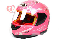 25% 0ff ABS Motorcycle Helmet full Face helmet with goggles pink girl racing motocross children helmet