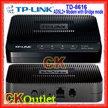 Marca nueva TP Link TD-8616 1 Ethernet puerto ADSL2 + Modem con bridge & NAT con 1 Year garantía ( regalo libre ) [ Firmware inglés ](China (Mainland))