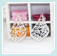 Silver alloy water drop shaped earring with crystal drop earrings for women jewelry