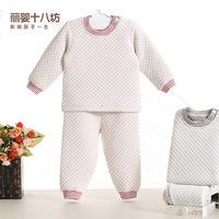 New Year 2014 Children's Clothing Baby Thermal Underwear Set Child Autumn-Winter Children's Dress Baby Underwear Set Clothes